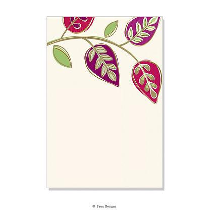 Arboretum Plum, Green Invitation - Blank