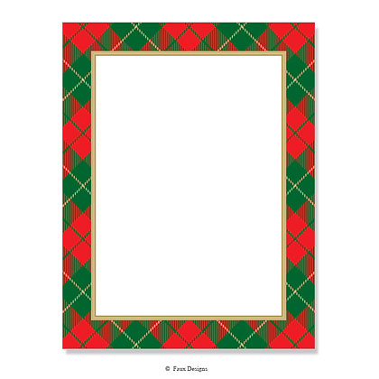 Holiday Plaid 8.5 x 11 Sheet