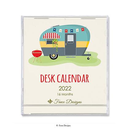Happy Camper 16-Month 2021-2022 Desk Calendar