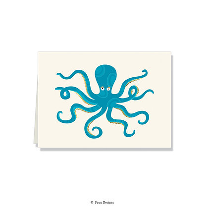 Octopus Folded Note