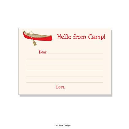 Canoe Fill-in Camp Note