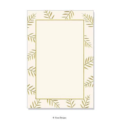 Sprig Ivory Invitation - Blank