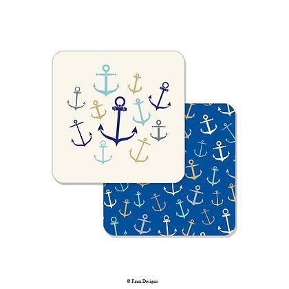 Whimsical Anchors Coaster