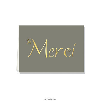 Merci Folded Note
