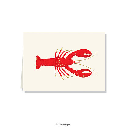 Lobster Folded Note