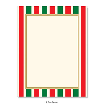 Polo Red & Green 8.5 x 11 Sheet