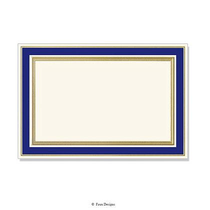 Heritage Navy Blue Invitation - Blank