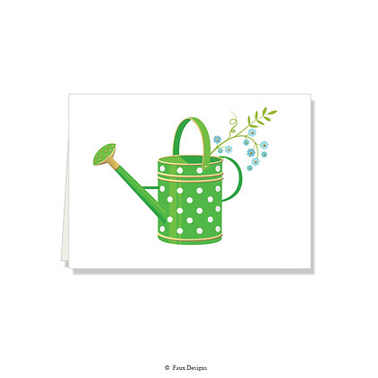 Watering Can Folded Note