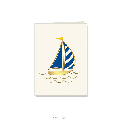 Sail Boat Folded Note