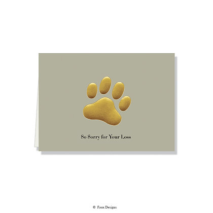 So Sorry for Your Loss - Paw Print Gray