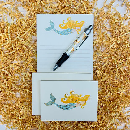 Mermaid Memo Pad & Folded Note Set
