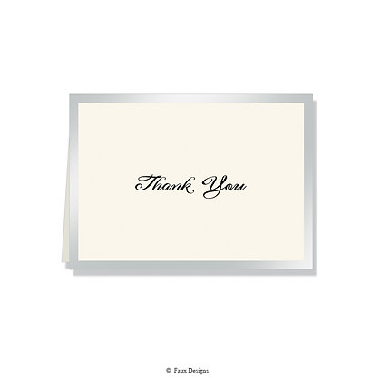 Thank You - Silver on Ivory