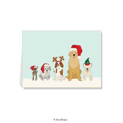 Santa Dogs Folded Note