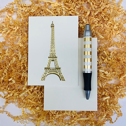 Eiffel Tower Folded Note & Pen Set