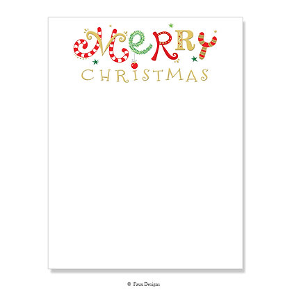 Merry Christmas 8.5 x 11 Sheet