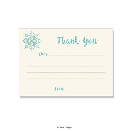 Snowflake Fill-in Thank You Note