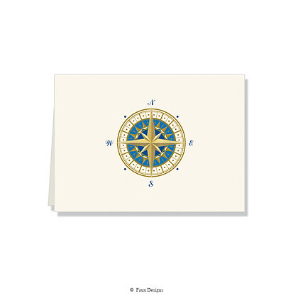 Compass Rose Folded Note
