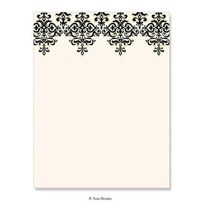 Contessa Black 8.5 x 11 Sheet
