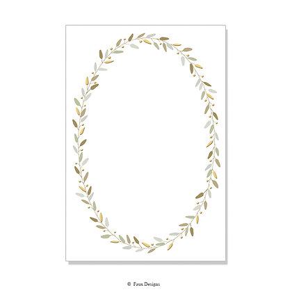 Laurel Golds Invitation - Blank