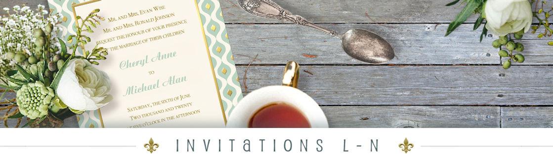 L - N Invitations