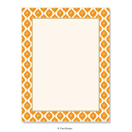 Mendoza Orange 8.5 x 11 Sheet
