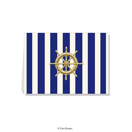 Nautical Stripe Folded Note