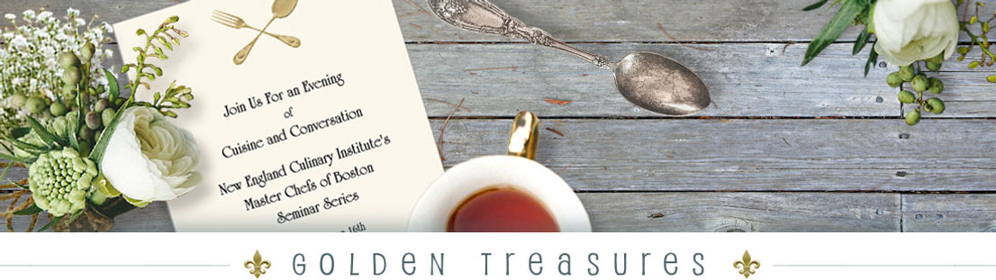 Golden Treasures Invitations