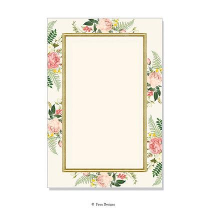 Posy Ivory Invitation - Blank