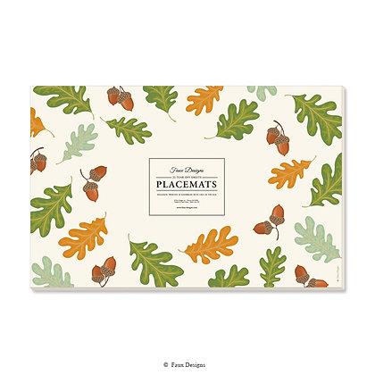 Acorn & Leaves Placemat