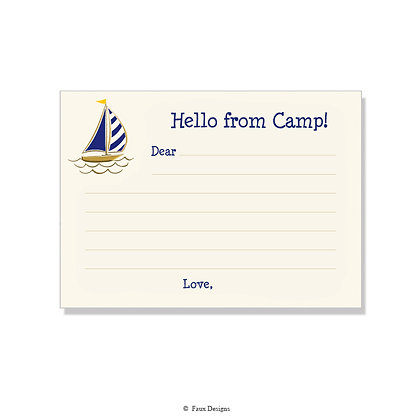 Sailboat Fill-in Camp Note