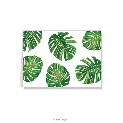 Tropical Leaf Folded Note