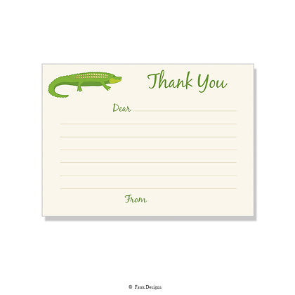 Alligator Fill-in Thank You Note