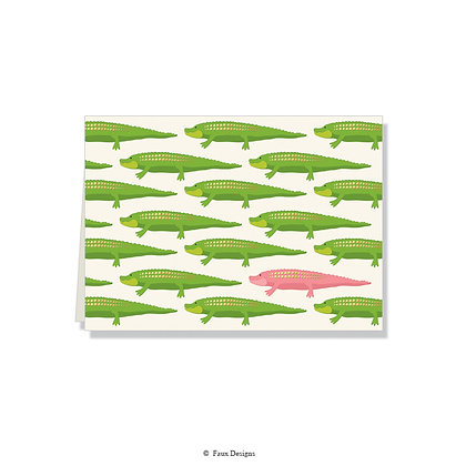 Alligators Folded Note
