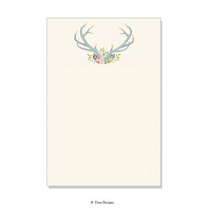 Floral Antlers Invitation - Blank