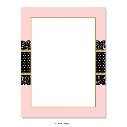 Lace Pink, Black 8.5 x 11 Sheet