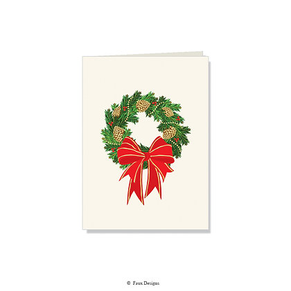 Holiday Wreath Folded Note