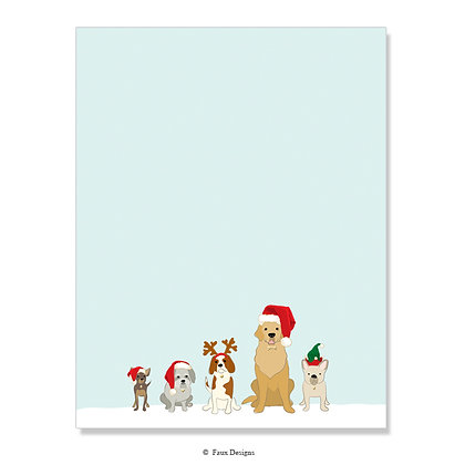 Holiday Dogs 8.5 x 11 Sheet