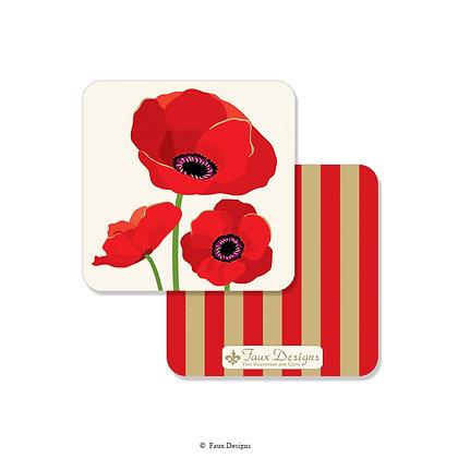 Poppies Coaster