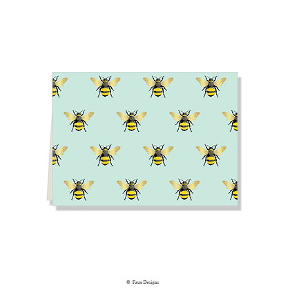 Bees Folded Note