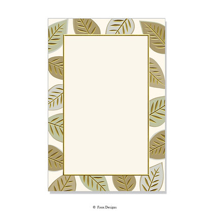 Berkshire Golds Invitation - Blank