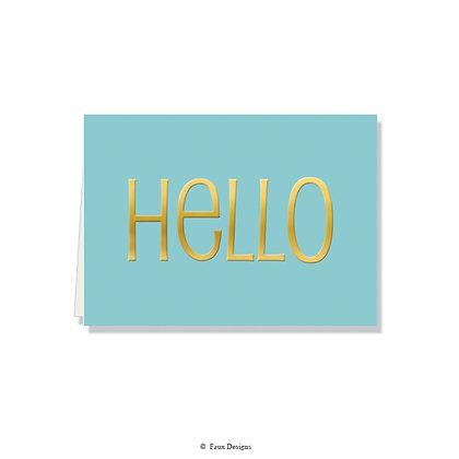 Hello Folded Note