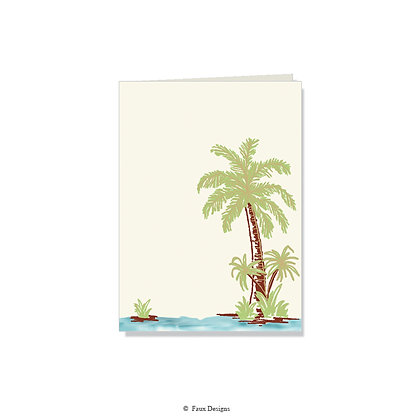 Tropical Palm Tree Folded Note