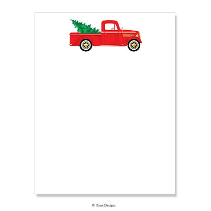 Holiday Truck 8.5 x 11 Sheet
