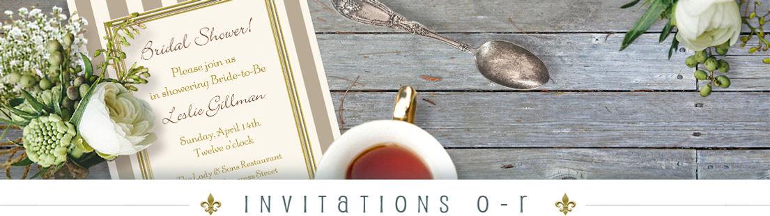 O - R Invitations