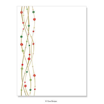 Rhapsody Red & Green 8.5 x 11 Sheet