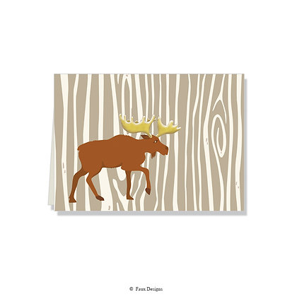 Moose Folded Note