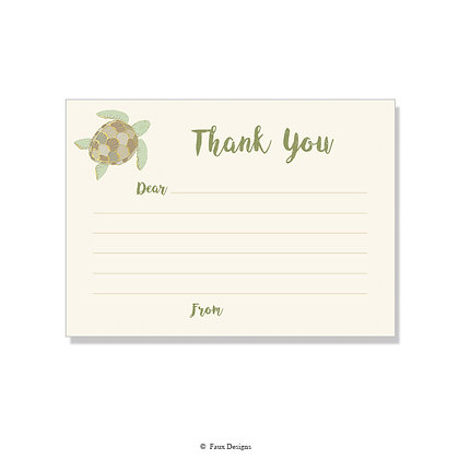 Sea Turtle Fill-in Thank You Note