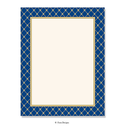 Noble Navy 8.5 x 11 Sheet