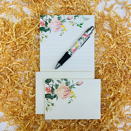 Posy Memo Pad & Folded Note Set