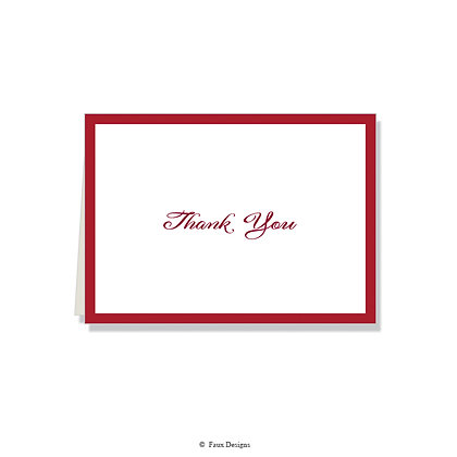 Thank You - Cranberry on White
